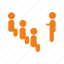 group, individual, participants, present, team icon