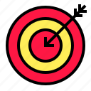 arrow, bussiness, goal, objective, target icon