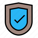 bussiness, defense, safe, shield, verify icon
