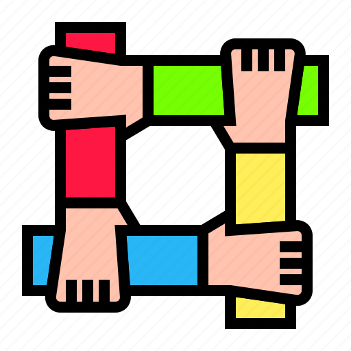 bussiness, collaboration, cooperation, hand, teamwork icon