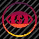 eye, money, cash, coin, currency, finance