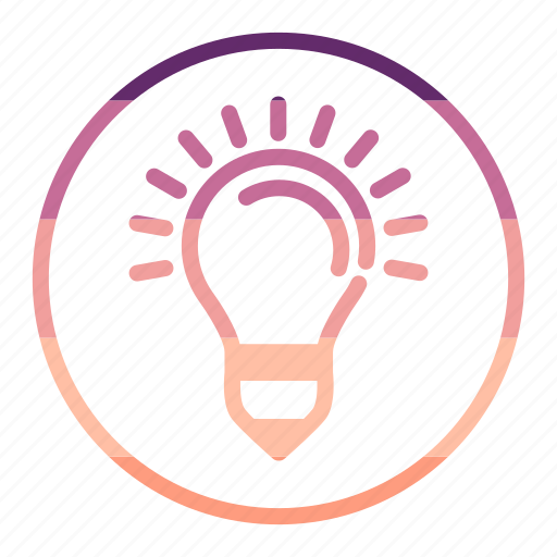 bulb, creative, furniture, lamp, lightbulb, table icon