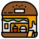 fastfood, cafe, shop, burger, store icon