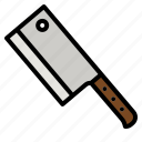 cleaver, knife, kitchen, butcher, food
