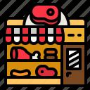 meat, shop, ham, butcher, pork