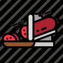 slicer, meat, food, kitchenware icon