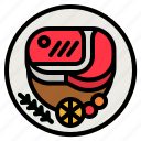 steak, proteins, food, grilled, meat icon