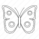 big spot butterfly, bug, fly, moth, outline, spring, tattoo icon