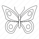 bug, fly, line, lovely butterfly, outline, spring, tattoo icon