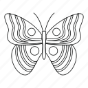 bug, fly, light butterfly, line, outline, spring, tattoo icon