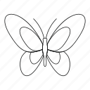 beautiful butterfly, bug, fly, moth, outline, spring, tattoo icon