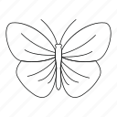 bug, butterfly with strip, fly, line, outline, spring, tattoo icon