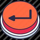 back, control icon