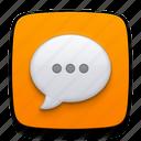 bubble, call, chat, comment, message, sms, speak, speech, talk, voice icon