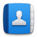 account, address book, contact, contacts, man, notepad, people, person icon