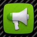 promote, megaphone, discuss, forum, speech, talk