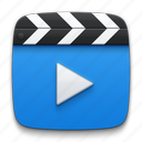 cinema, film, media, movie, multimedia, play, player, slate board, video icon