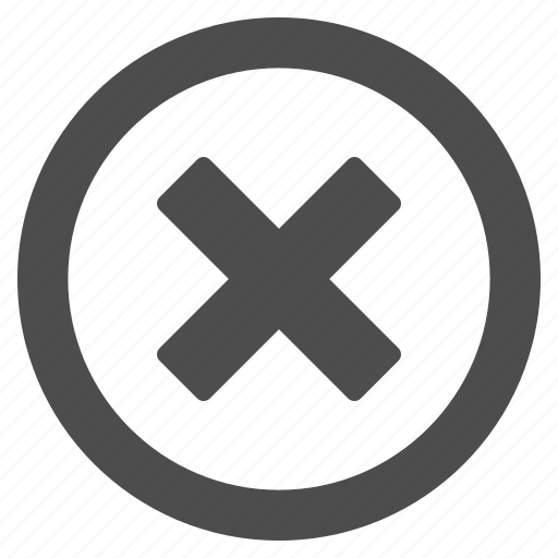 button, buttons, cancel, closed, denied, multimedia, restricted, round, web, x icon