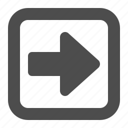 arrow, button, buttons, direction, multimedia, navigation, right, square, web icon