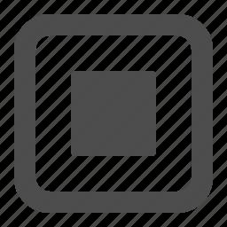 button, buttons, multimedia, record, recording, square, stop, web icon