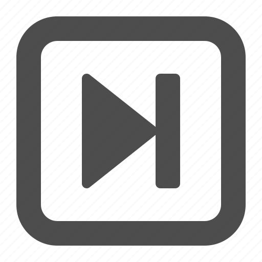 arrow, button, buttons, end, multimedia, skip, square, web icon