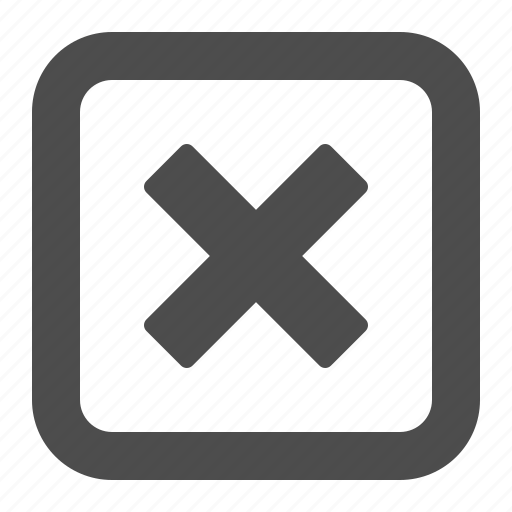 button, buttons, cancel, closed, denied, multimedia, restricted, square, web, x icon