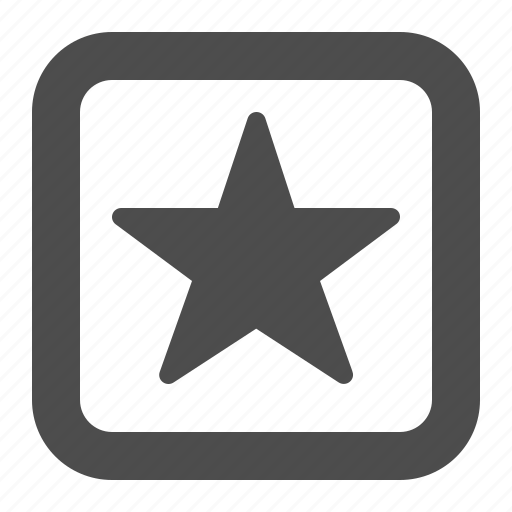 bookmark, button, buttons, favorite, multimedia, square, star, web icon