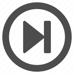 arrow, button, buttons, last, multimedia, round, skip, web icon