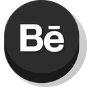 behance, buttonz icon