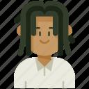 avatar, dreadlocks, male, man, profile, user