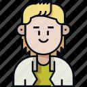 avatar, long hair, male, man, profile, shaggy hair, user icon