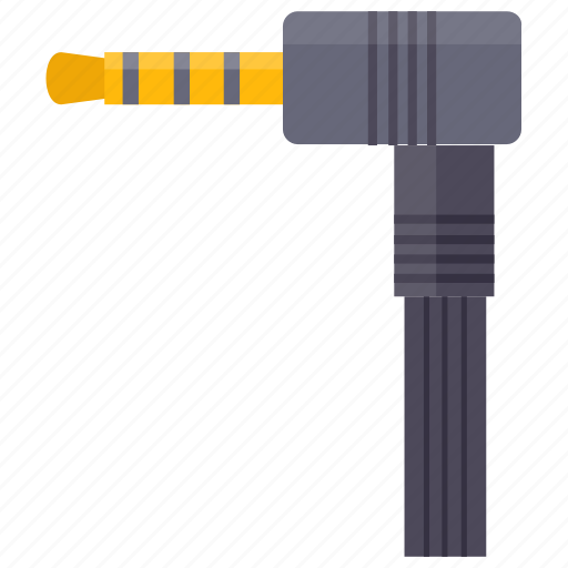 audio cable, audio wire, sound connector, sound wire, speaker cable icon