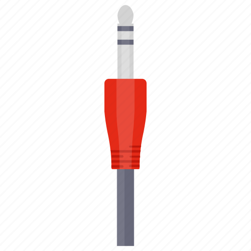 audio cable, audio pin, sound cable, sound connection, sound wire icon