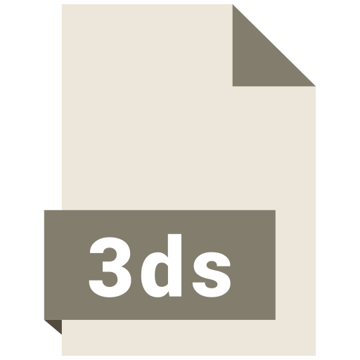 3ds, file, format icon