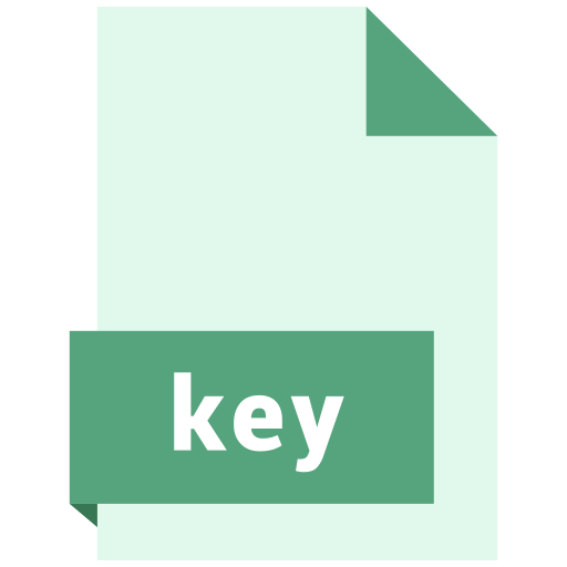 file, format, key icon