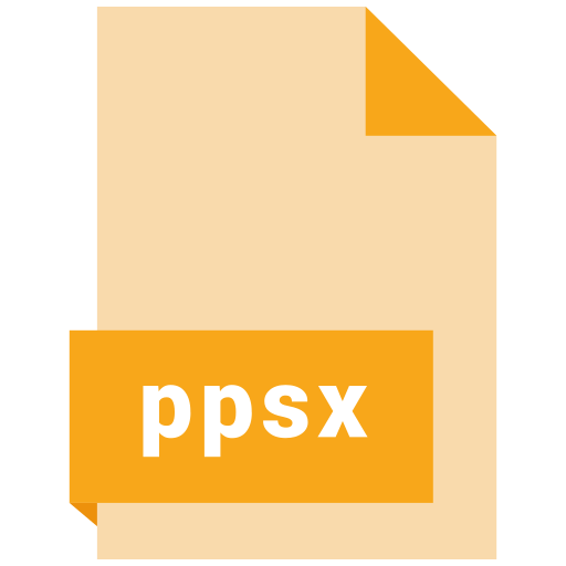 file, format, ppsx icon