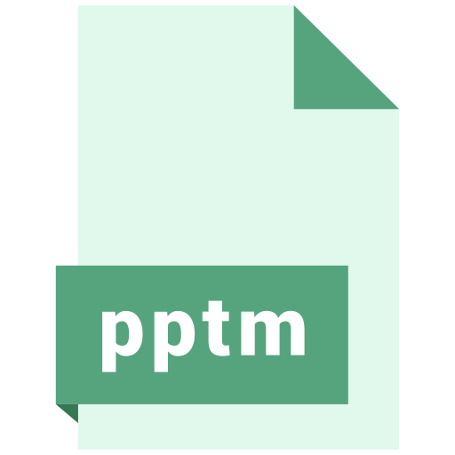 file, format, pptm icon
