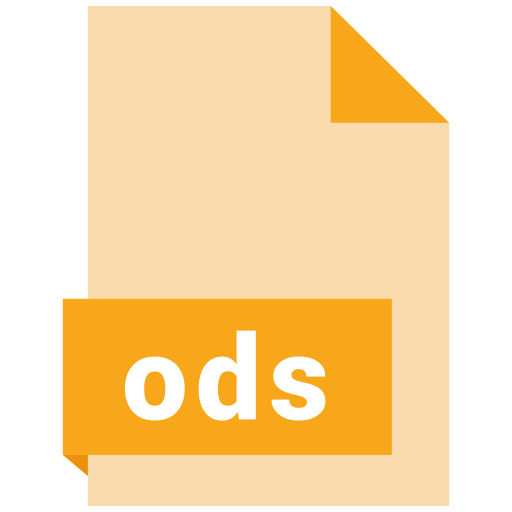 file, format, ods icon