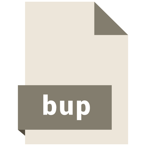 bup, file, format icon
