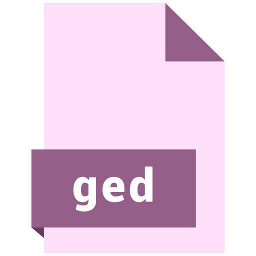 file, format, ged icon