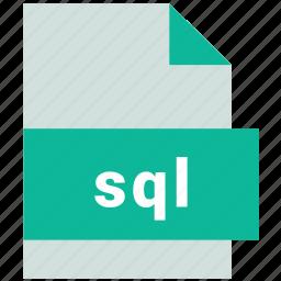 database file format, sql icon
