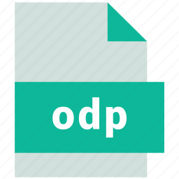 odp, presentation file format icon