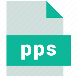pps, presentation file format icon