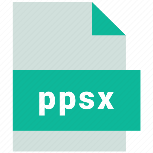 ppsx, presentation file format icon