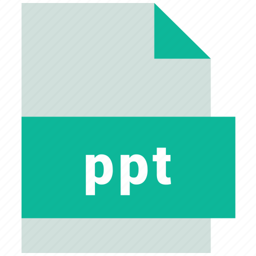 ppt, presentation file format icon