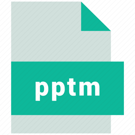 pptm, presentation file format icon