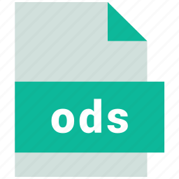ods, spreadsheet file format icon