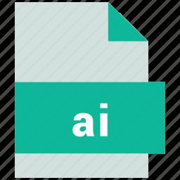 ai, vector image file format icon