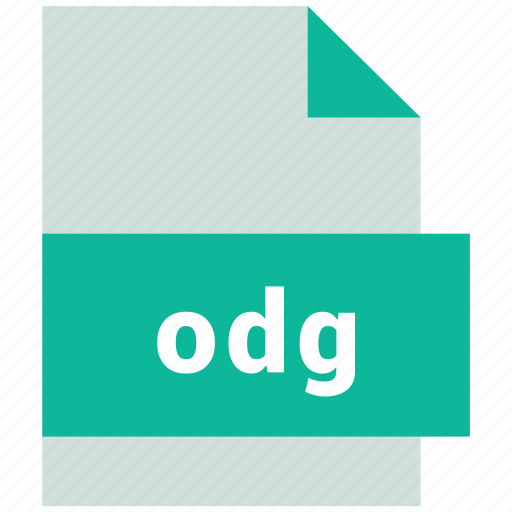 odg, vector image file format icon