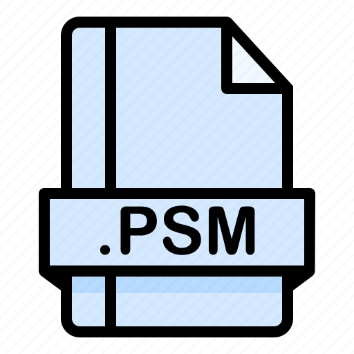 File, file extension, file format, file type, psm icon - Download on Iconfinder